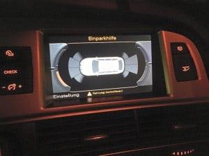 Optische Anzeige der Einparkhilfe am Audi A6 4F