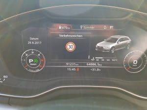 Heute einen Audi A4 B9 Fahrer glücklich gemacht. Es wurde die Verkehrszeichenerkennung und das Fenlichtassistent codiert