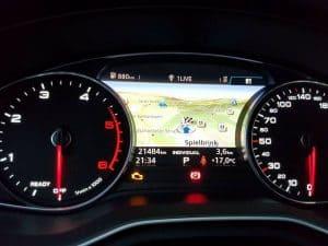 Audi A4 B9 die Kartendarstellung im FIS bei kleinem MMI