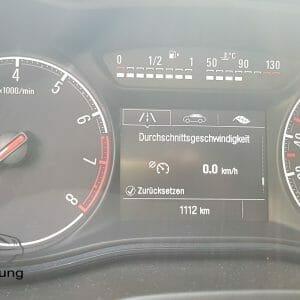 Anzeige der Durschnittsgeschwindigkeit