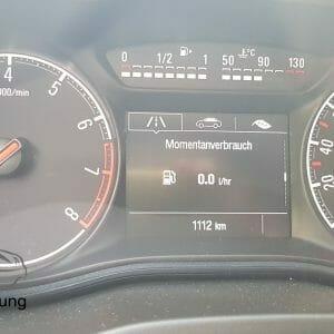 Anzeige des Momentanverbrauch am Opel Corsa E