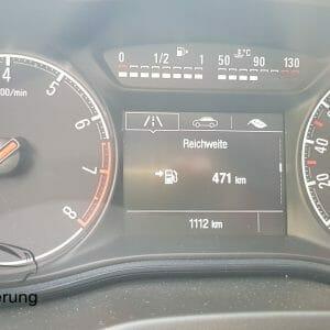 Anzeige der Restreichweite am Opel Corsa E
