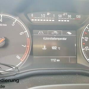 Anzeige der Kühlmitteltemperatur am Opel Corsa E