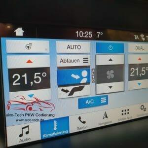 Ford Codierung Galerie Codierungen der Anzeige und Steuerung der Klimatisierung im Sync 3 am Ford Kuga 2